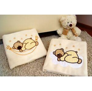 Priebe - lux Dětská deka s výšivkou žlutá