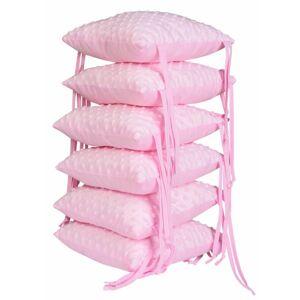 Zuz Polštářkový mantinel - 6ks růžová