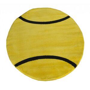Dětský koberec - Tenisový míč - 100 x 100 cm
