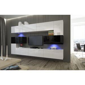 Anral Obývací stěna Simba 6 - Bílo/černý lesk