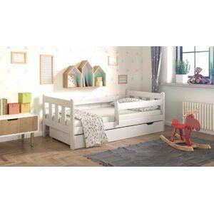 Dětská postel Irina bílá 180/80 + šuplík + matrace