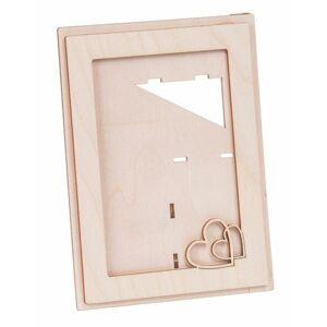 Dřevěný rámeček na fotografii 10x15