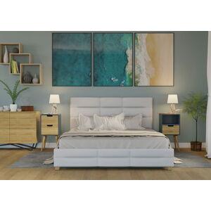 Bigmeble Čalouněná postel Bellius - 120x200 cm - Eko-kůže (bílá)