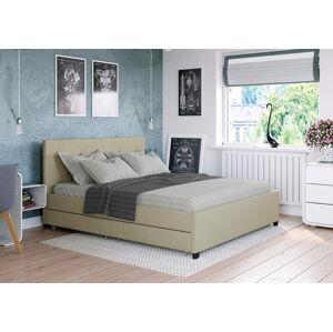 Bigmeble Čalouněná postel Créma - 160x200 cm - Látková (písková)