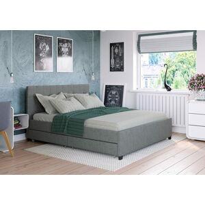 Bigmeble Čalouněná postel Créma - 180x200 cm - Látková (světle šedá)