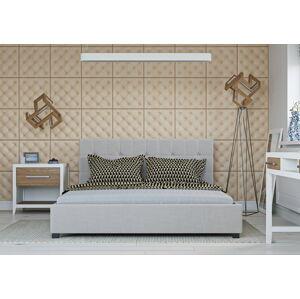 Bigmeble Čalouněná postel Modeno - 140x200 cm - Tkanina (Béžová)