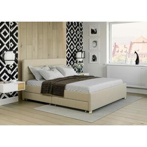 Bigmeble Čalouněná postel Monzo - 120x200 cm - Látková (písková)