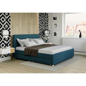 Bigmeble Čalouněná postel Monzo - 180x200 cm - Látková (azurová)