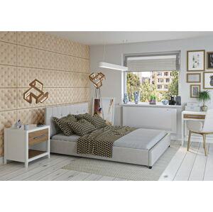 Bigmeble Čalouněná postel Modeno - 180x200 cm - Tkanina (Béžová)