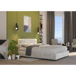 Bigmeble Čalouněná postel Holma - 180x200 cm - Semiš (Béžová)
