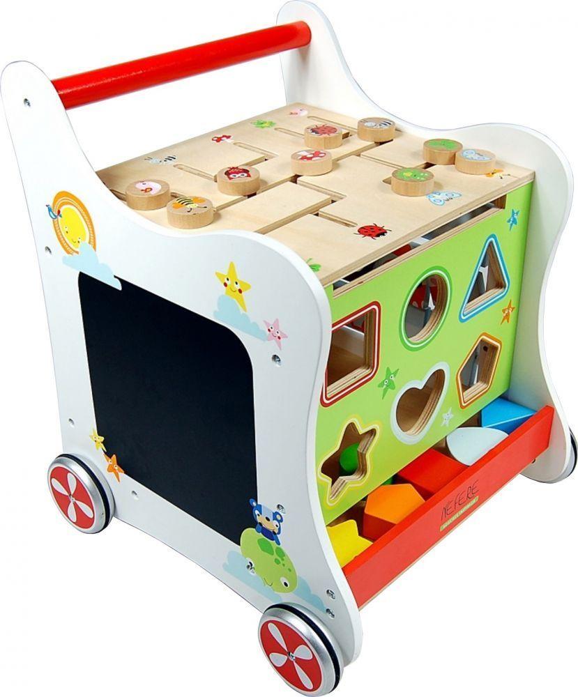 NEF Dětský dřevěný walker - Zábavné chodítko
