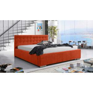 Eka Čalouněná postel Anastasia 90x200 cm Barva látky Casablanca: Oranžová (17)