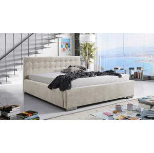 Eka Čalouněná postel Anastasia 120x200 cm Barva látky Casablanca: Krémová bíla (01)