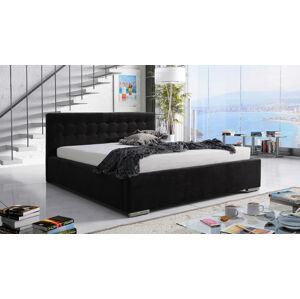 Eka Čalouněná postel Anastasia 140x200 cm Barva látky Casablanca: Černá (16)