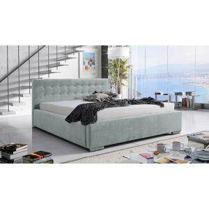Eka Čalouněná postel Anastasia 160x200 cm Barva látky Casablanca: Mintová (21)