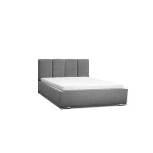 Eka Čalouněná postel Cassandra 120x200 cm Barva látky Casablanca: Šedá (14)
