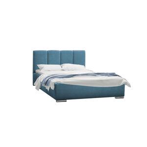 Eka Čalouněná postel Cassandra 160x200 cm Barva látky Casablanca: Azurová (13)