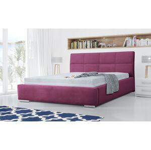 Eka Čalouněná postel Flow 90x200 cm Barva látky Casablanca: Fialová (11)