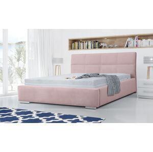 Eka Čalouněná postel Flow 160x200 cm Barva látky Casablanca: Pastelová růžová (19)