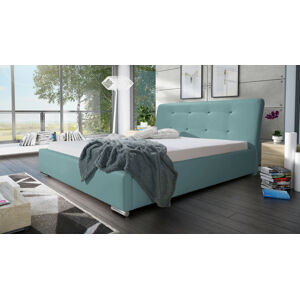 Eka Čalouněná postel Spark 140x200 cm Barva látky Eko-kůže: Světle modrá (08)