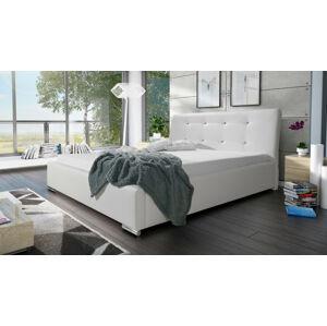 Eka Čalouněná postel Spark 140x200 cm Barva látky Eko-kůže: Bílá (17)