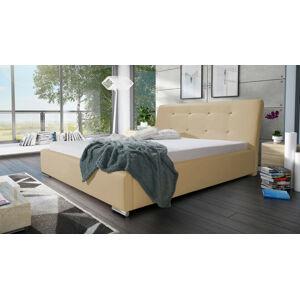 Eka Čalouněná postel Spark 160x200 cm Barva látky Eko-kůže: Světlá béžová (01)
