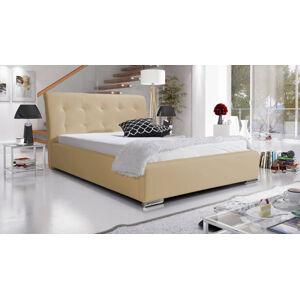 Eka Čalouněná postel Star 120x200 cm Barva látky Eko-kůže: Světlá béžová (01)
