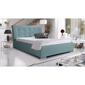 Eka Čalouněná postel Star 140x200 cm Barva látky Eko-kůže: Světle modrá (08)