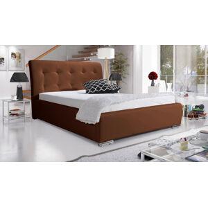 Eka Čalouněná postel Star 180x200 cm Barva látky Eko-kůže: Hnědá (15)