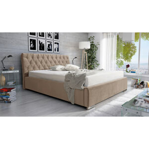 Eka Čalouněná postel Luxurious 90x200 cm Barva látky Casablanca: Béžová (04)