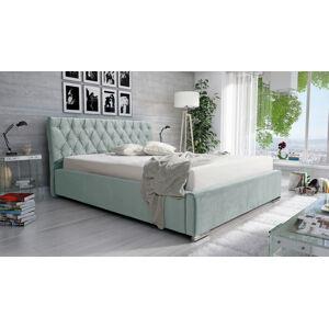 Eka Čalouněná postel Luxurious 180x200 cm Barva látky Casablanca: Mintová (21)