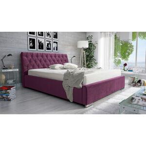 Eka Čalouněná postel Luxurious 180x200 cm Barva látky Casablanca: Fialová (11)