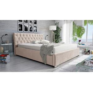 Eka Čalouněná postel Luxurious 180x200 cm Barva látky Casablanca: Krémová bíla (01)