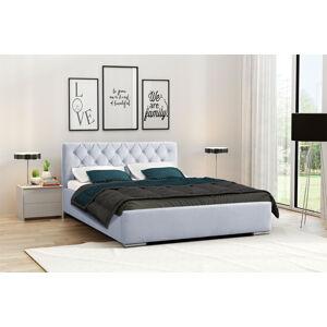 Eka Čalouněná postel Elegant 140x200 cm Barva látky Casablanca: Pastelová modrá (20)