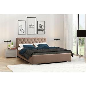 Eka Čalouněná postel Elegant 140x200 cm Barva látky Casablanca: Béžová (04)