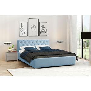 Eka Čalouněná postel Elegant 120x200 cm Barva látky Casablanca: Modrá (22)