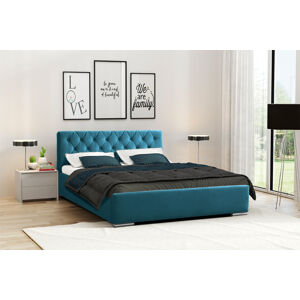 Eka Čalouněná postel Elegant 120x200 cm Barva látky Casablanca: Azurová (13)