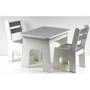 Stůl a dvě židličky K2 grafit