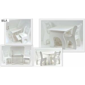 Stůl a dvě židličky K3 bílá