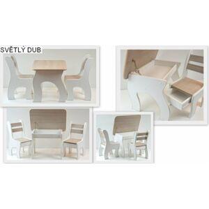 Kantori Stůl a dvě židličky K3 světlý dub