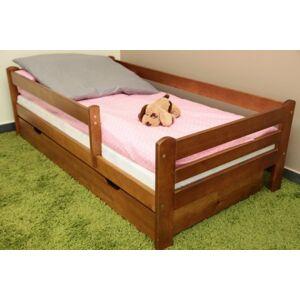 Dětská postel 180x80 cm Vráťa dub+ šuplík + matrace