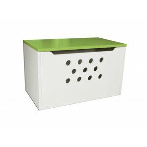 Box na hračky - kolečka zelená 70cm/42cm/40cm