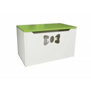 Box na hračky - mašle zelená 70cm/42cm/40cm
