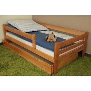 Dětská postel 160x80 cm Vráťa olše + šuplík + matrace