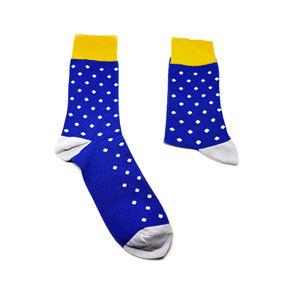 Ostravasklad Dárkové ponožky modré se vzorem Velikost: 36 - 40