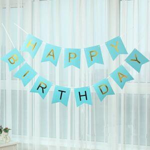 tom Narozeninová girlanda Happy Birthday - Modrá