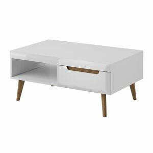 MDC Konferenční stolek Nadia - Bílý lesk + dub