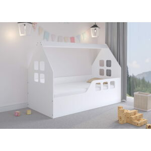 Abart Dětská postel ve tvaru domečku - 160 x 80 cm Bílá