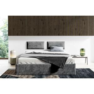 Čalouněná postel Lucy - 140x200 cm Barva látky Casablanca: Grafitová (15)