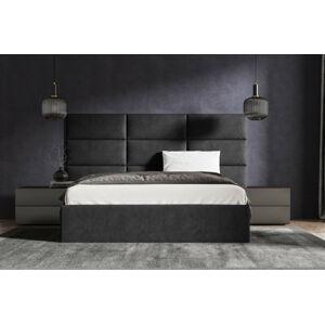 Čalouněná postel Lucy 2 - 160x200 cm Barva látky Casablanca: Černá (16)
